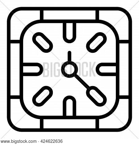 Late Work Daily Icon. Outline Late Work Daily Vector Icon For Web Design Isolated On White Backgroun