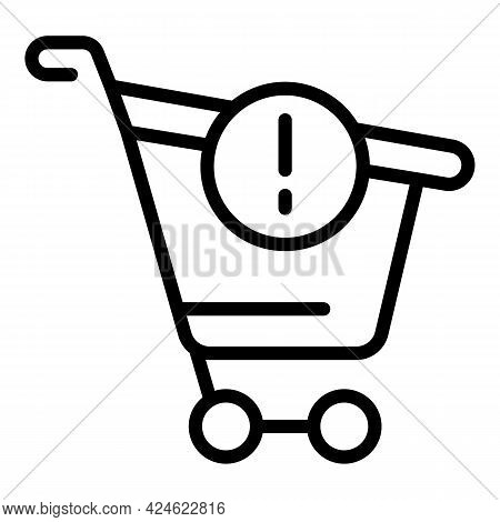 Regulated Cash Cart Icon. Outline Regulated Cash Cart Vector Icon For Web Design Isolated On White B