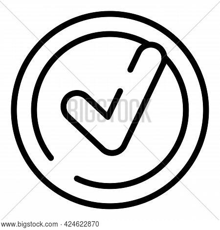 Regulated Products Approved Icon. Outline Regulated Products Approved Vector Icon For Web Design Iso