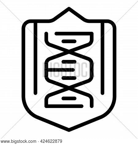 Regulated Products Dna Icon. Outline Regulated Products Dna Vector Icon For Web Design Isolated On W