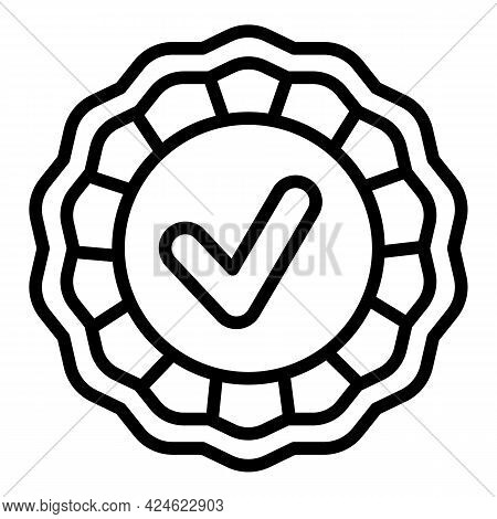 Regulated Products Emblem Icon. Outline Regulated Products Emblem Vector Icon For Web Design Isolate