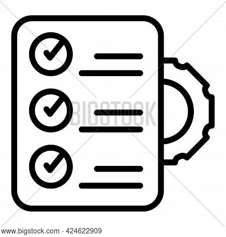 Regulated Products Control Icon. Outline Regulated Products Control Vector Icon For Web Design Isola