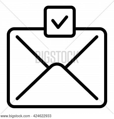 Regulated Products Mail Letter Icon. Outline Regulated Products Mail Letter Vector Icon For Web Desi