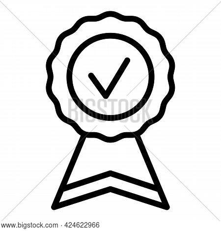 Regulated Products Paper Emblem Icon. Outline Regulated Products Paper Emblem Vector Icon For Web De