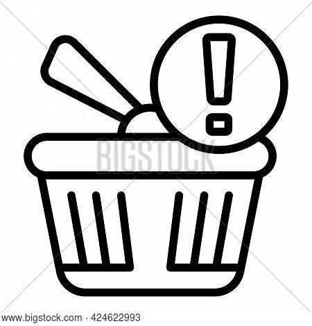 Regulated Products Basket Icon. Outline Regulated Products Basket Vector Icon For Web Design Isolate