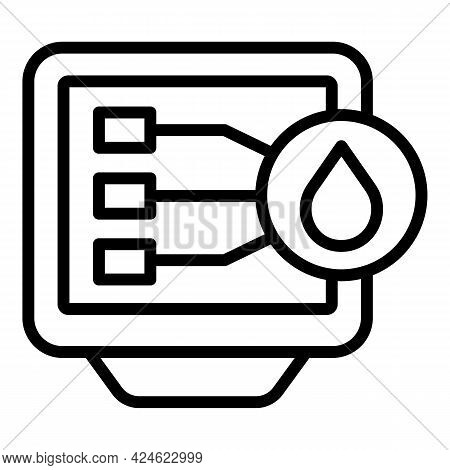 Regulated Products Pc Monitor Icon. Outline Regulated Products Pc Monitor Vector Icon For Web Design