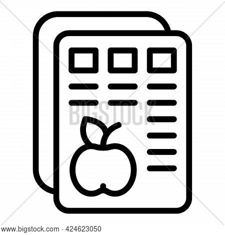 Regulated Products Fruits Icon. Outline Regulated Products Fruits Vector Icon For Web Design Isolate