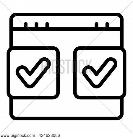 Regulated Products Compare Icon. Outline Regulated Products Compare Vector Icon For Web Design Isola