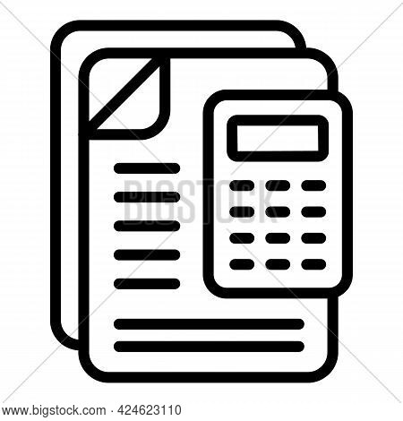 Regulated Products Calculator Icon. Outline Regulated Products Calculator Vector Icon For Web Design