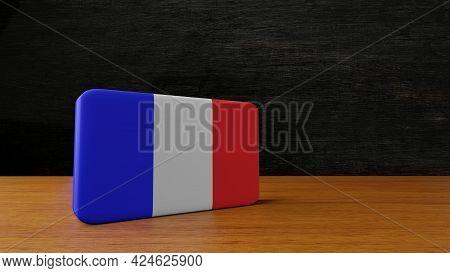 France Square Flag 3d Rendering France Square Flag 3d Rendering