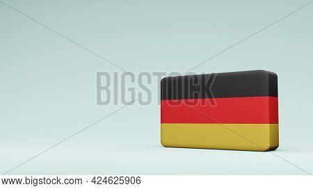 German Square Flag 3d Rendering German Square Flag 3d Rendering