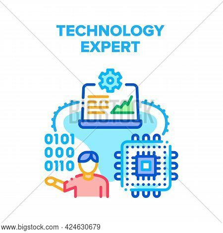 Technology Expert Support Vector Icon Concept. Technology Expert Support And Development Innovation