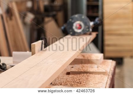 Beech Plank And A Router