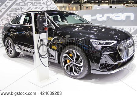Bangkok - Dec 2, 2020  Car Show The Audi E-tron The Exciting World Of Electromobility At Auto Shows