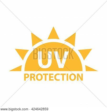 Uv Radiation Protection Icon Vector Solar Ultraviolet Light Symbol For Graphic Design, Logo, Web Sit