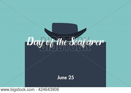 Day Of The Seafarer Typography. Boat Symbol. June 25