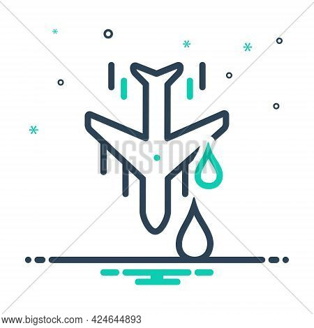 Mix Icon For Downstream Aeroplane Land Down