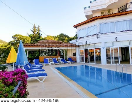 Kemer, Antalya, Turkey - May 11, 2021: Naturella Hotel And Apart