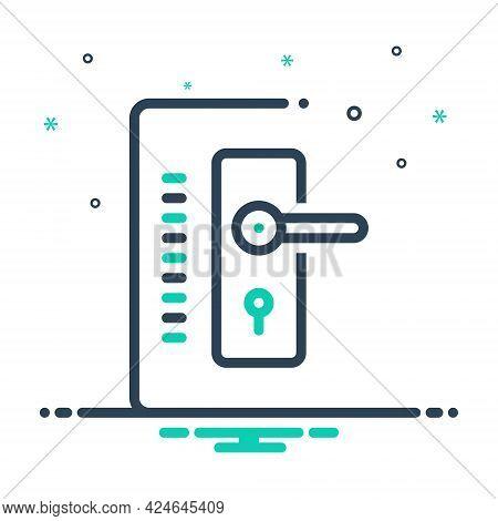 Mix Icon For Doorlock Hasp Swivel Stirrup Threshold Doorway