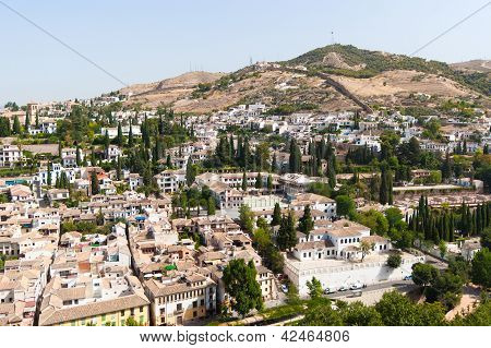 View To Granada From Alhambra Palace Spain