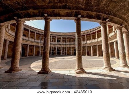 Alhambra De Granada. Court Of The Carlos V Palace