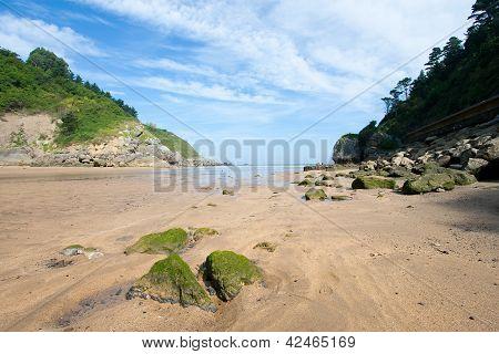 Beach Of Ea, Bizkaia, Basque Country, Spain