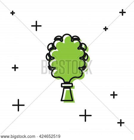 Black Sauna Broom Icon Isolated On White Background. Broom From Birch Twigs, Branches For Russian St