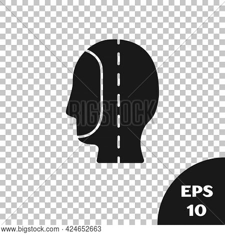 Black Diving Hood Icon Isolated On Transparent Background. Spearfishing Hat Winter Swim Hood. Diving