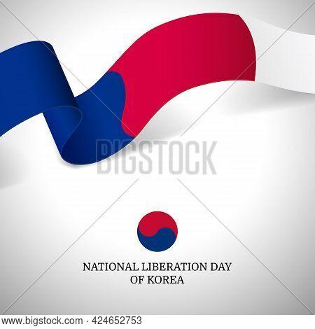 Vector Illustration Of National Liberation Day Of Korea.