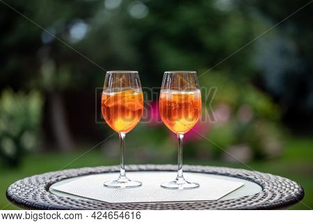 Aperol Spritz With Orange Is A Perfect Aperitif For A Hot Day