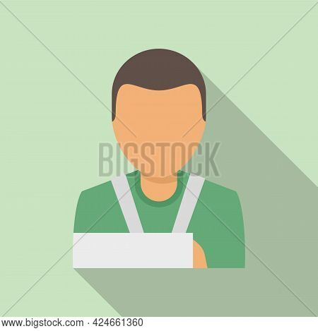 Man Hand Broken Icon. Flat Illustration Of Man Hand Broken Vector Icon For Web Design