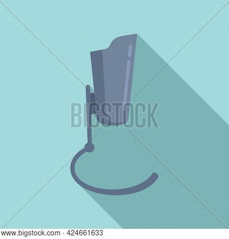 Artificial Leg Icon. Flat Illustration Of Artificial Leg Vector Icon For Web Design