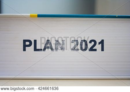 New Year 2021 Plan. Time To Chagne Concept Background