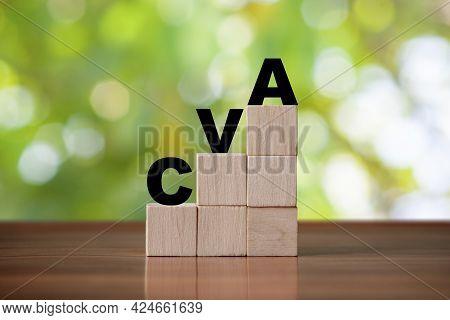 Cva Acronym Cerebrovascular Accident Stroke Concept. Cva Symbol
