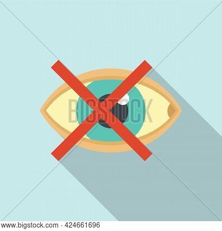 Blind Eye Icon. Flat Illustration Of Blind Eye Vector Icon For Web Design
