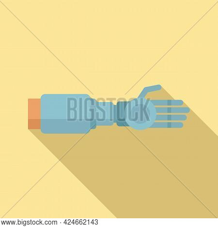Prosthetic Arm Icon. Flat Illustration Of Prosthetic Arm Vector Icon For Web Design