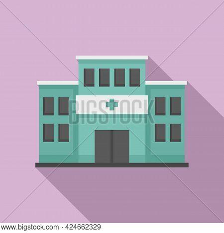 Handicapped Hospital Icon. Flat Illustration Of Handicapped Hospital Vector Icon For Web Design