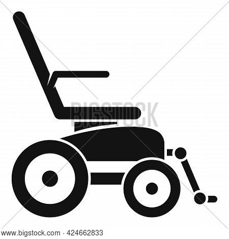Electric Wheelchair Icon. Simple Illustration Of Electric Wheelchair Vector Icon For Web Design Isol