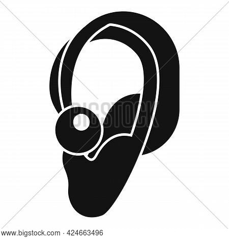 Hearing Aid Icon. Simple Illustration Of Hearing Aid Vector Icon For Web Design Isolated On White Ba