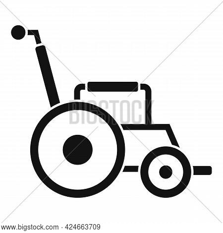 Modern Wheelchair Icon. Simple Illustration Of Modern Wheelchair Vector Icon For Web Design Isolated
