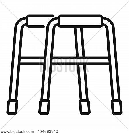 Walker Icon. Outline Walker Vector Icon For Web Design Isolated On White Background