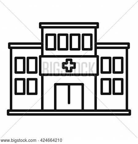 Handicapped Hospital Icon. Outline Handicapped Hospital Vector Icon For Web Design Isolated On White