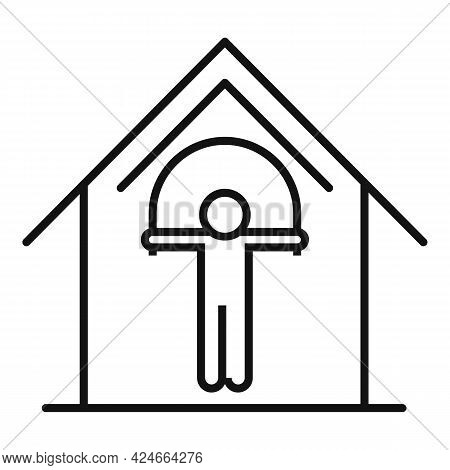 Home Training Jump Rope Icon. Outline Home Training Jump Rope Vector Icon For Web Design Isolated On
