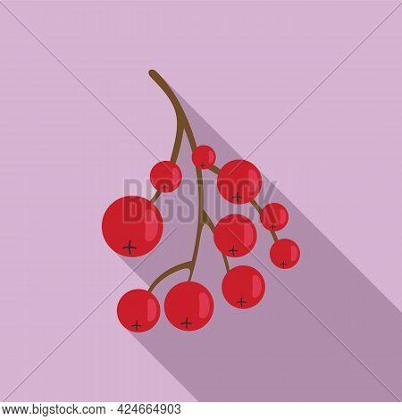 Rowan Healthy Berry Icon. Flat Illustration Of Rowan Healthy Berry Vector Icon For Web Design
