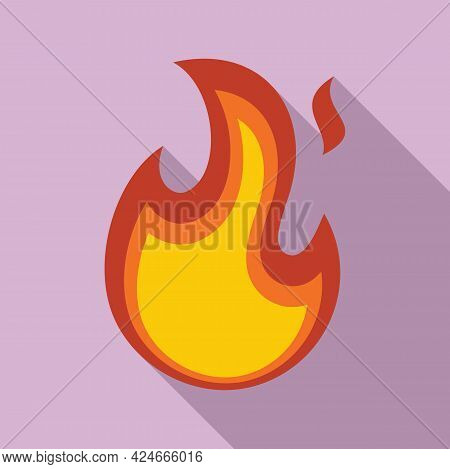 Fire Flame Fireball Icon. Flat Illustration Of Fire Flame Fireball Vector Icon For Web Design