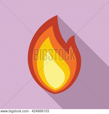 Fire Flame Bonfire Icon. Flat Illustration Of Fire Flame Bonfire Vector Icon For Web Design