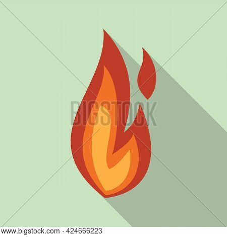 Fire Flame Campfire Icon. Flat Illustration Of Fire Flame Campfire Vector Icon For Web Design