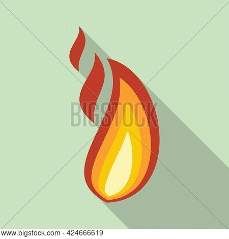 Fire Flame Blaze Icon. Flat Illustration Of Fire Flame Blaze Vector Icon For Web Design