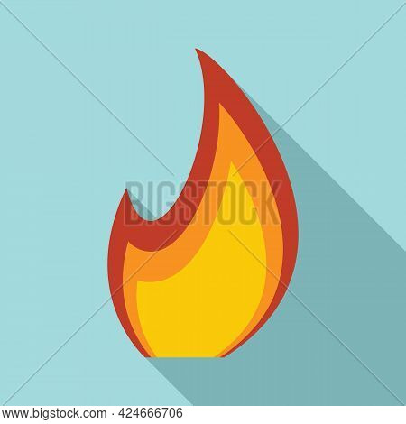 Fire Flame Blazing Icon. Flat Illustration Of Fire Flame Blazing Vector Icon For Web Design