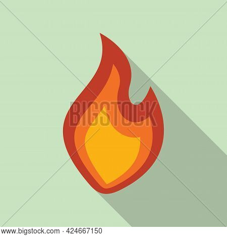 Fire Flame Ignite Icon. Flat Illustration Of Fire Flame Ignite Vector Icon For Web Design